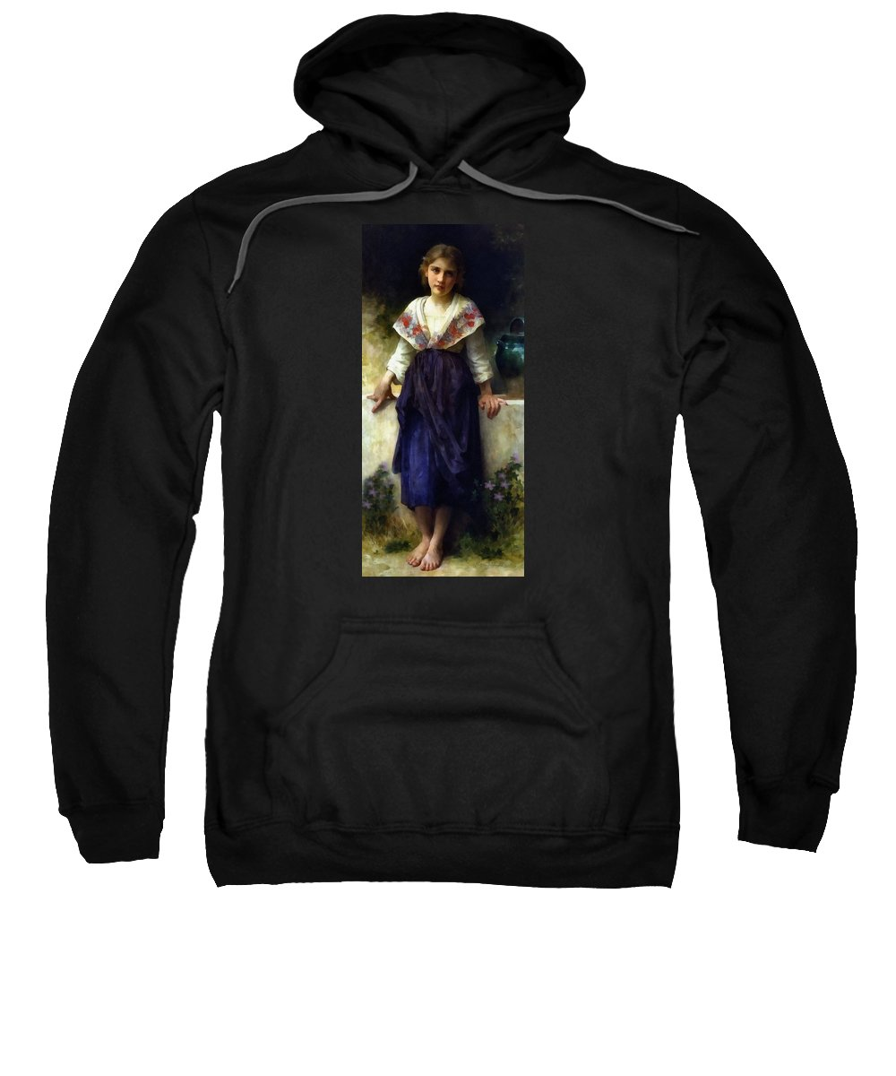 Girl Sweatshirt featuring the painting Rest Of A Girl by Georgiana Romanovna