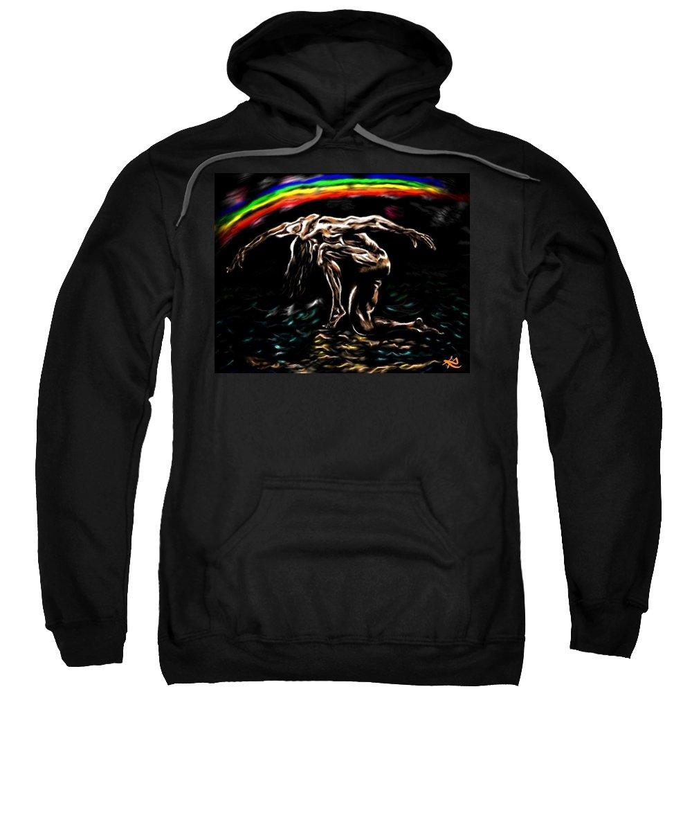 Resurrection Sweatshirt featuring the painting Resurrection by Herbert Renard