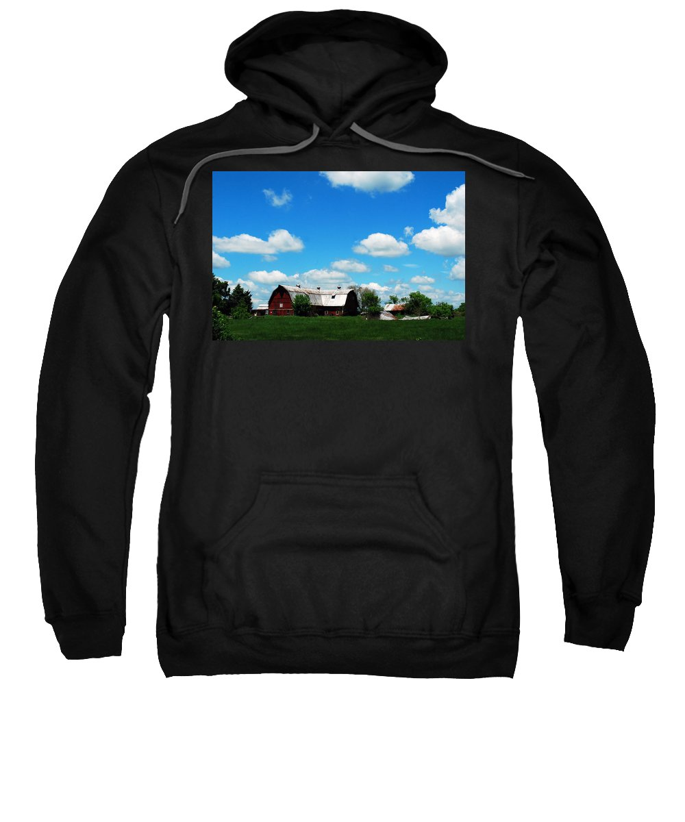 Barn Sweatshirt featuring the photograph Retired Barn by Lori Tambakis