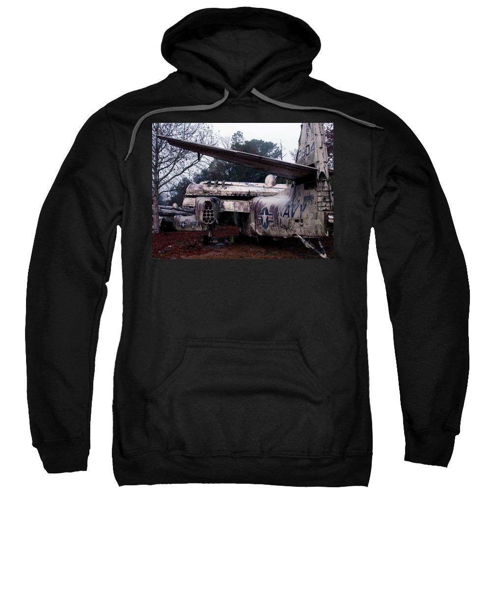 Airplane Sweatshirt featuring the photograph Retired Navy by Bob Johnson