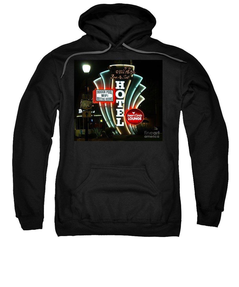 Retro Sweatshirt featuring the photograph Retro Neon by Stephen Whalen