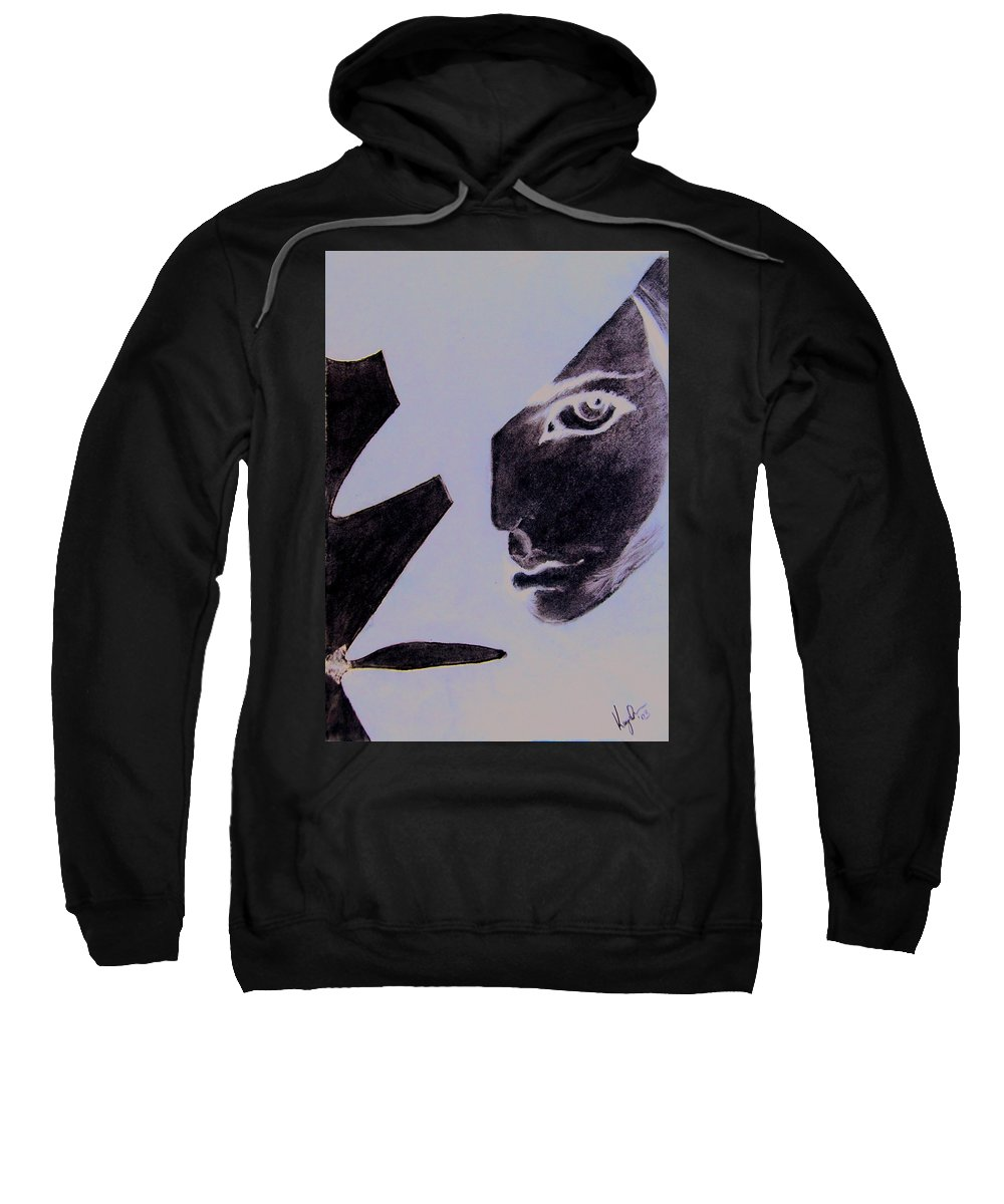 Black Sweatshirt featuring the pastel Revenge by Kayon Cox