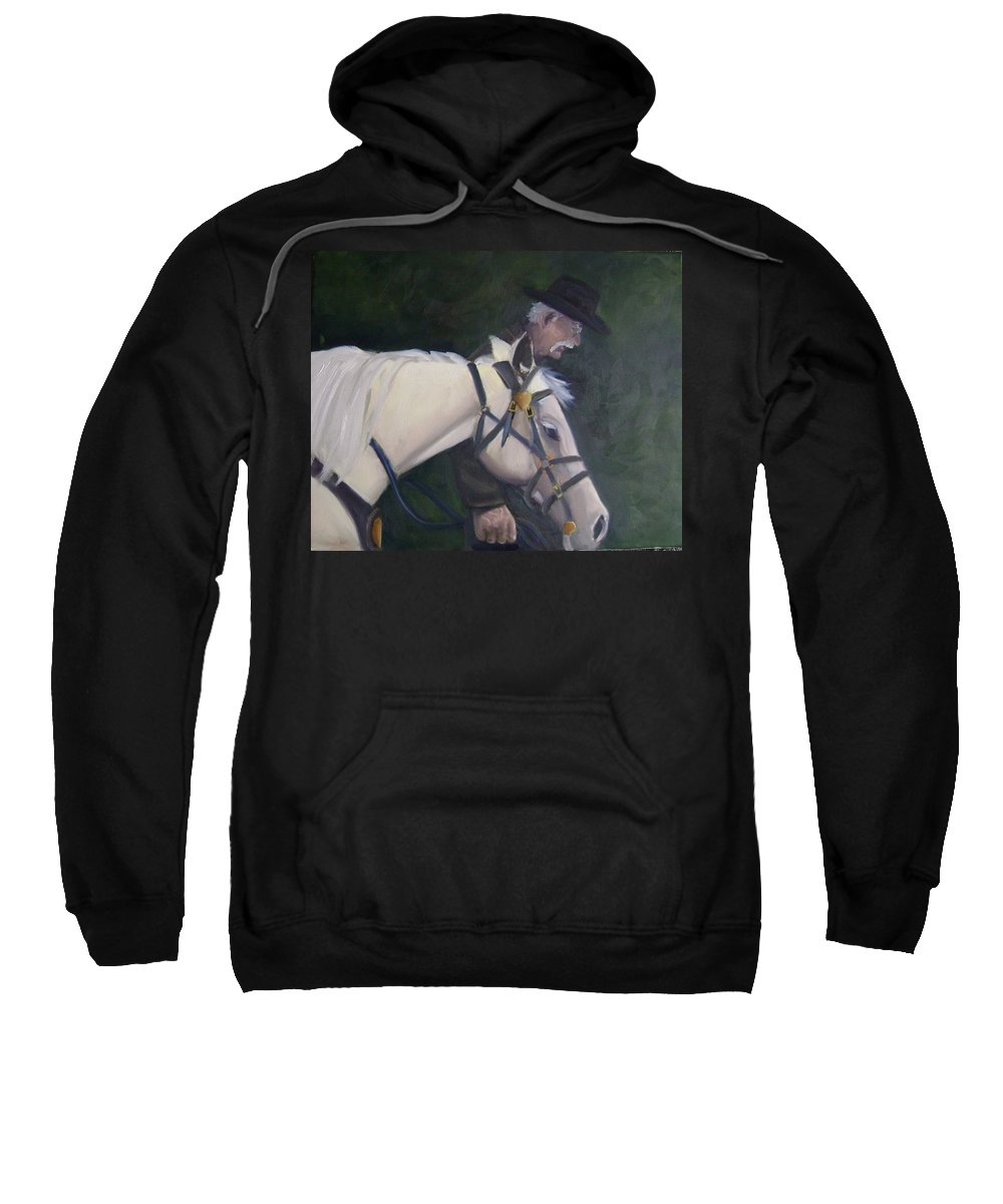 Old Man Horse... Sweatshirt featuring the painting revised- Man's Best Friend by Toni Berry