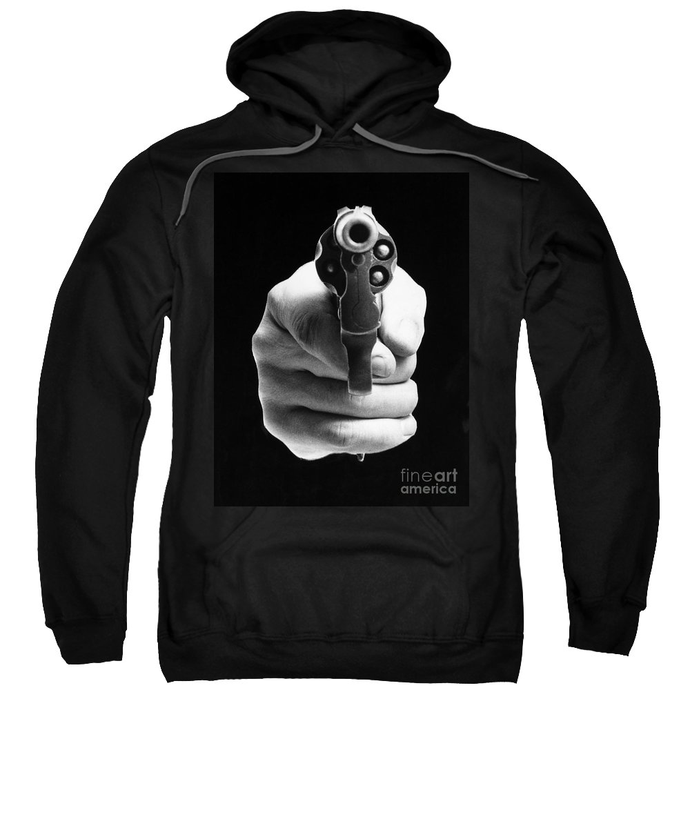 20th Century Sweatshirt featuring the photograph Revolver Aimed At You by Granger