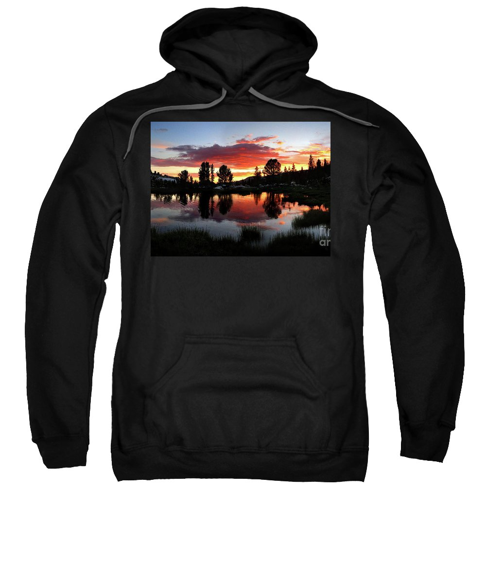 Sierra Sweatshirt featuring the photograph Reymann Lake Sunset - Yosemite by Bruce Lemons