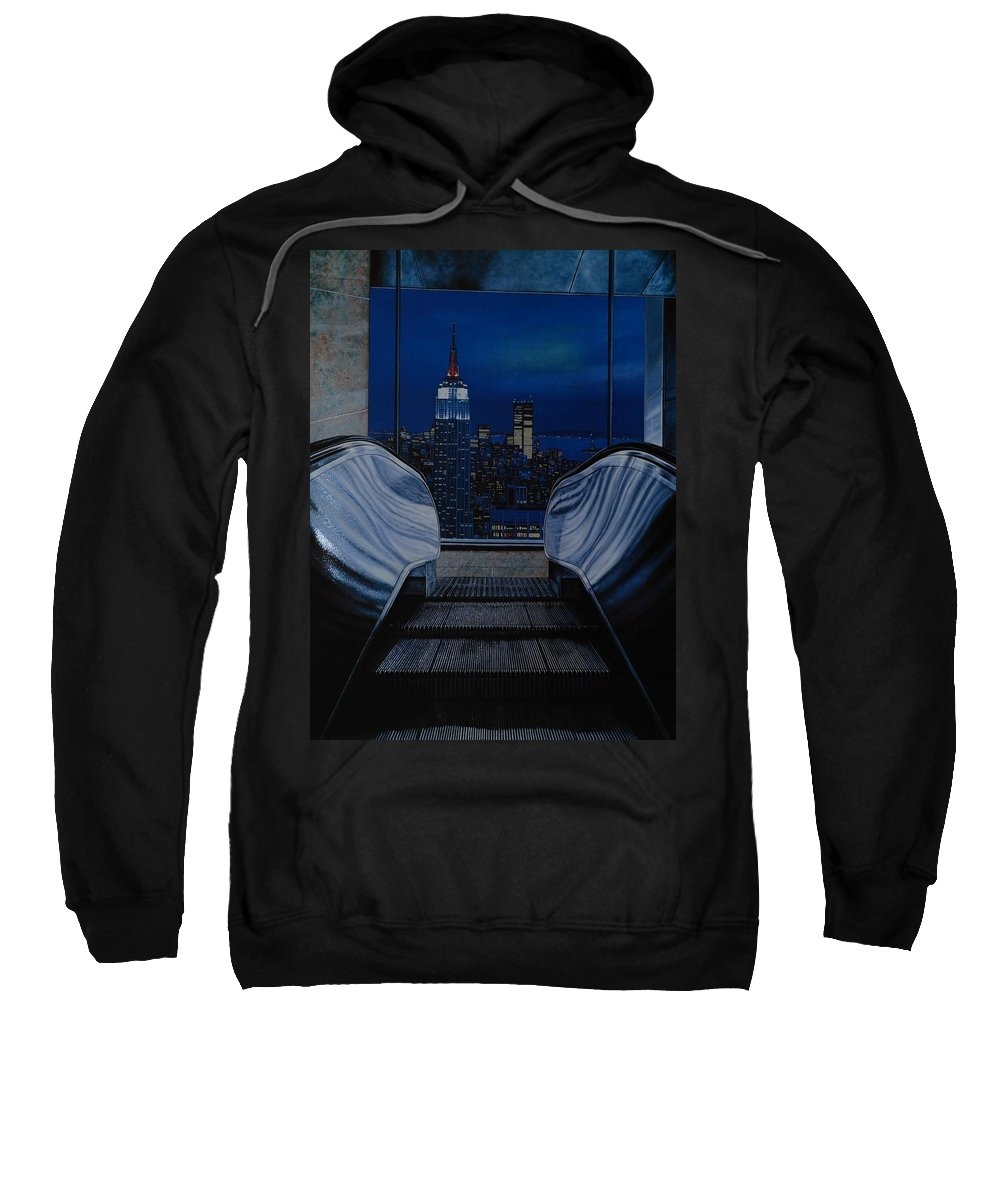 Lithograph Sweatshirt featuring the photograph Right To The Top by Rob Hans