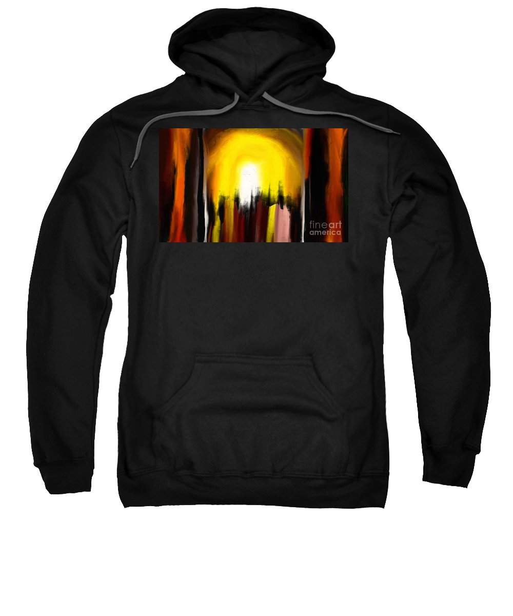 Digital Sweatshirt featuring the painting Right Way by Rushan Ruzaick