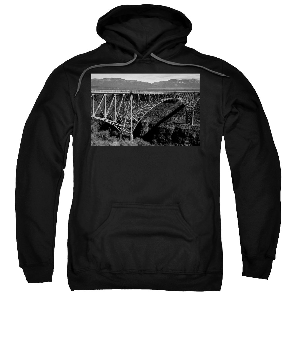 new Mexico Sweatshirt featuring the photograph Rio Grande Bridge In New Mexico by Spirit Vision Photography