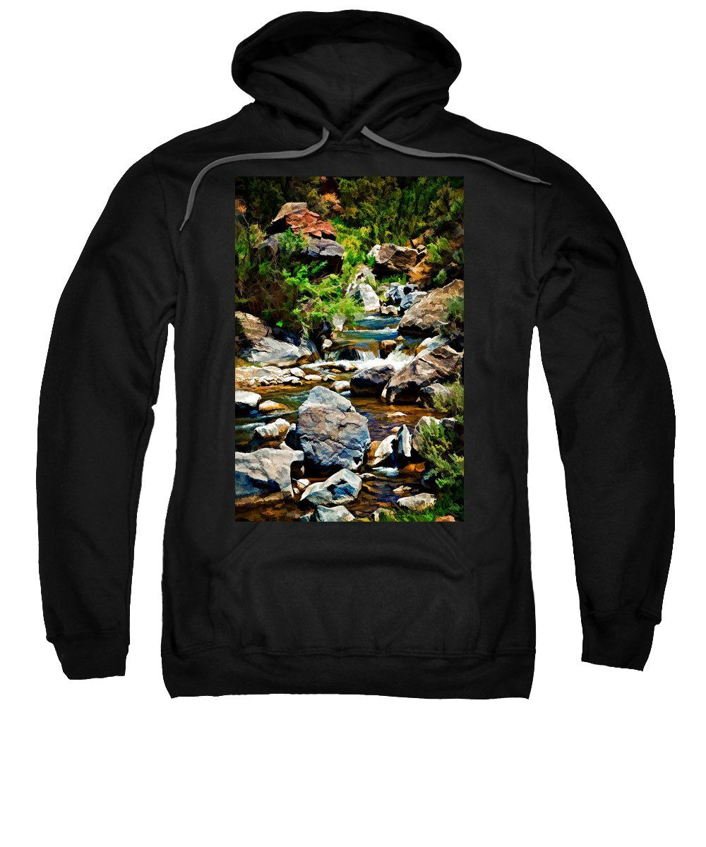 Rio Sweatshirt featuring the photograph Rio Hondo by Charles Muhle