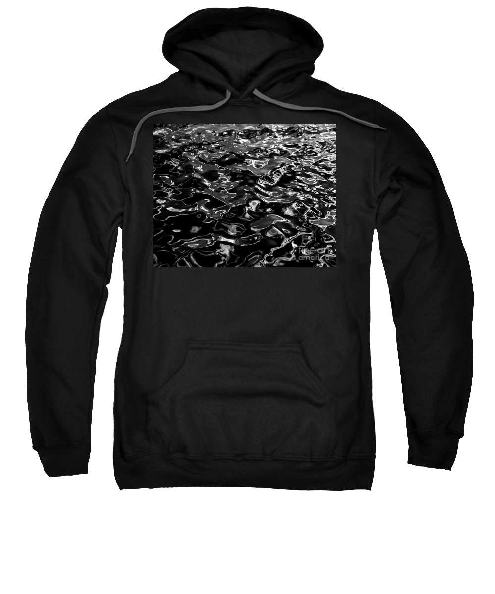 Black And White Sweatshirt featuring the photograph Ripples by Peter Piatt