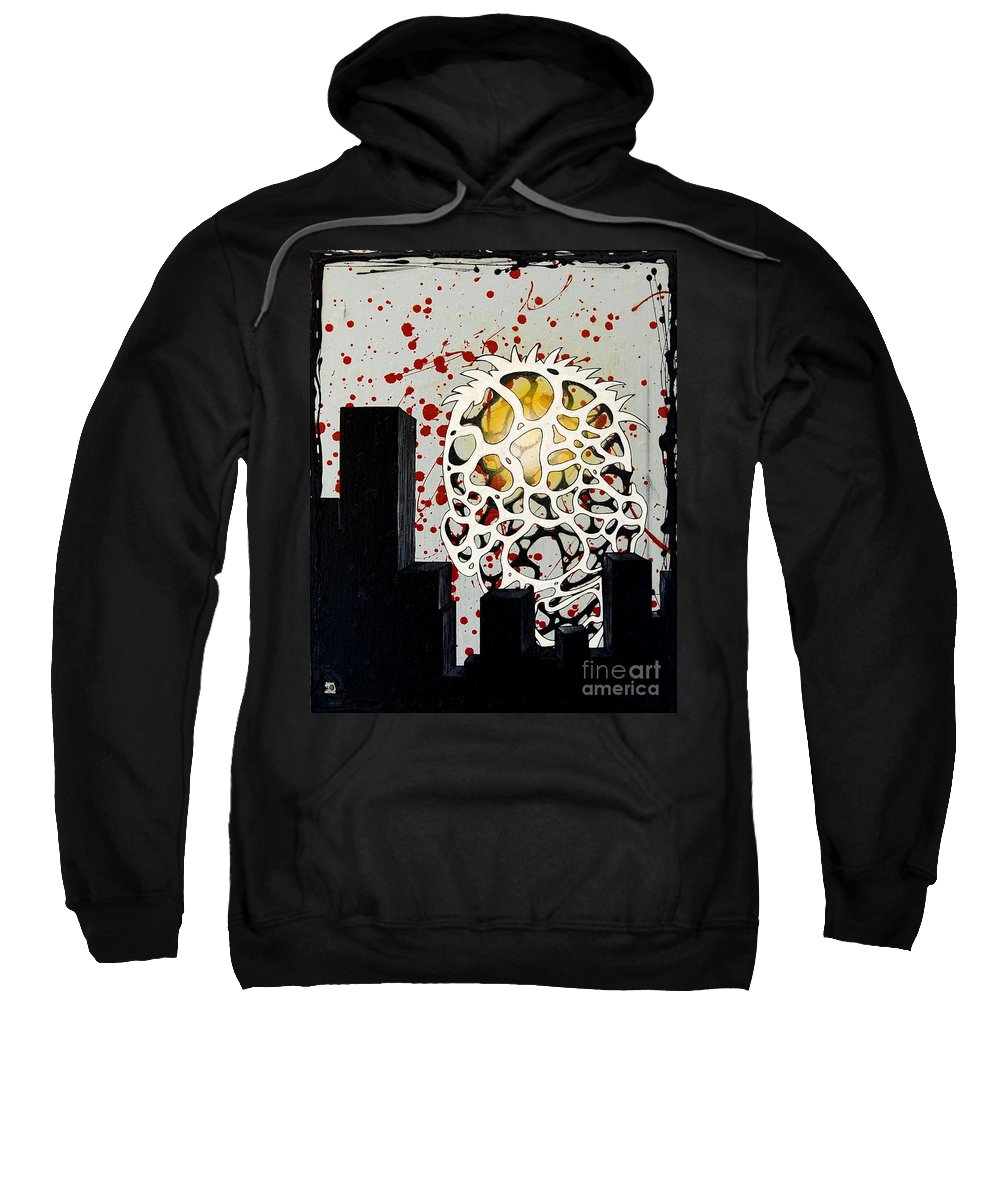 Energy Sweatshirt featuring the painting Rise by A 2 H D