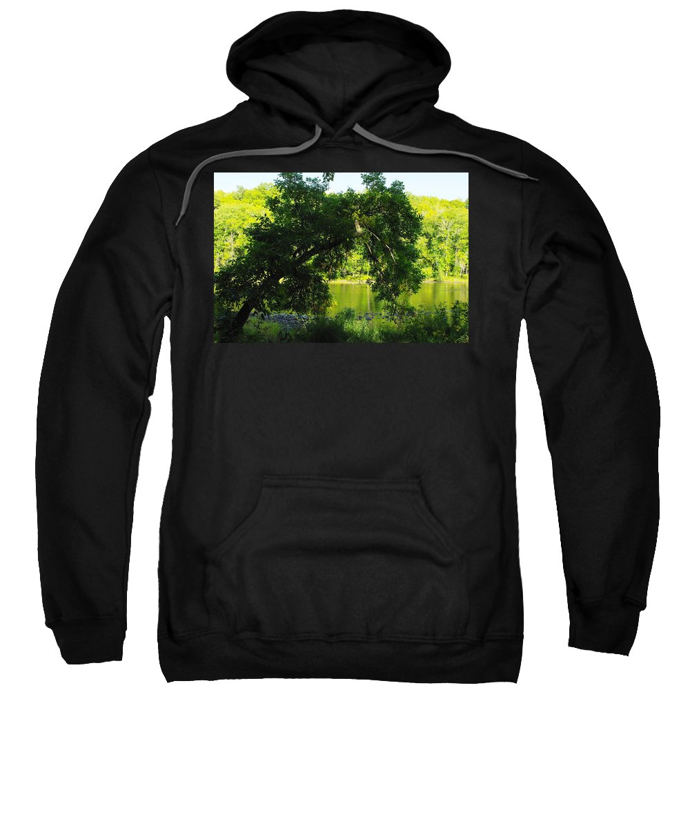 River Sweatshirt featuring the photograph River In The Summer by Alice Markham