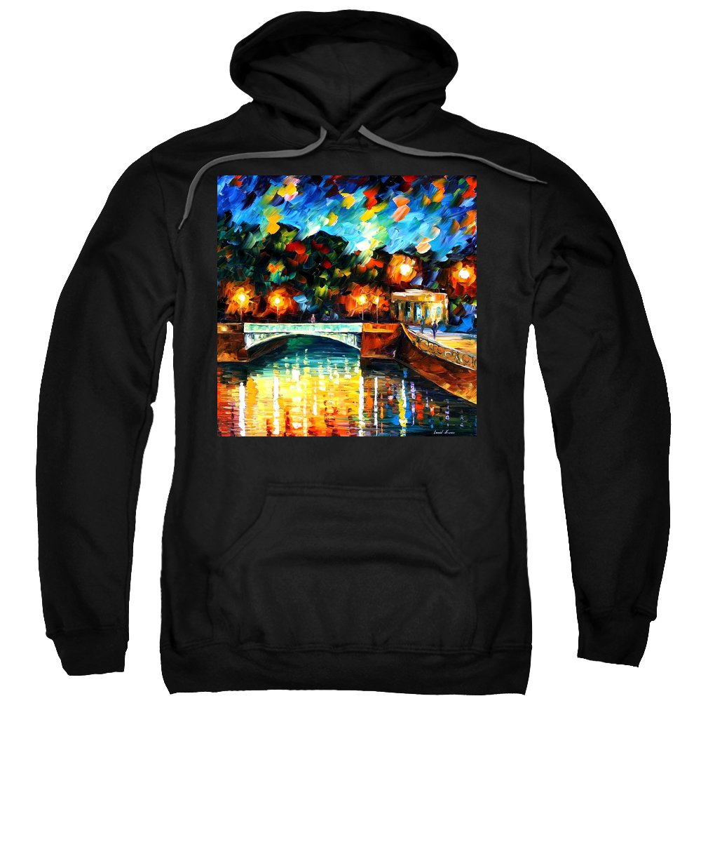 Afremov Sweatshirt featuring the painting River Of Love by Leonid Afremov