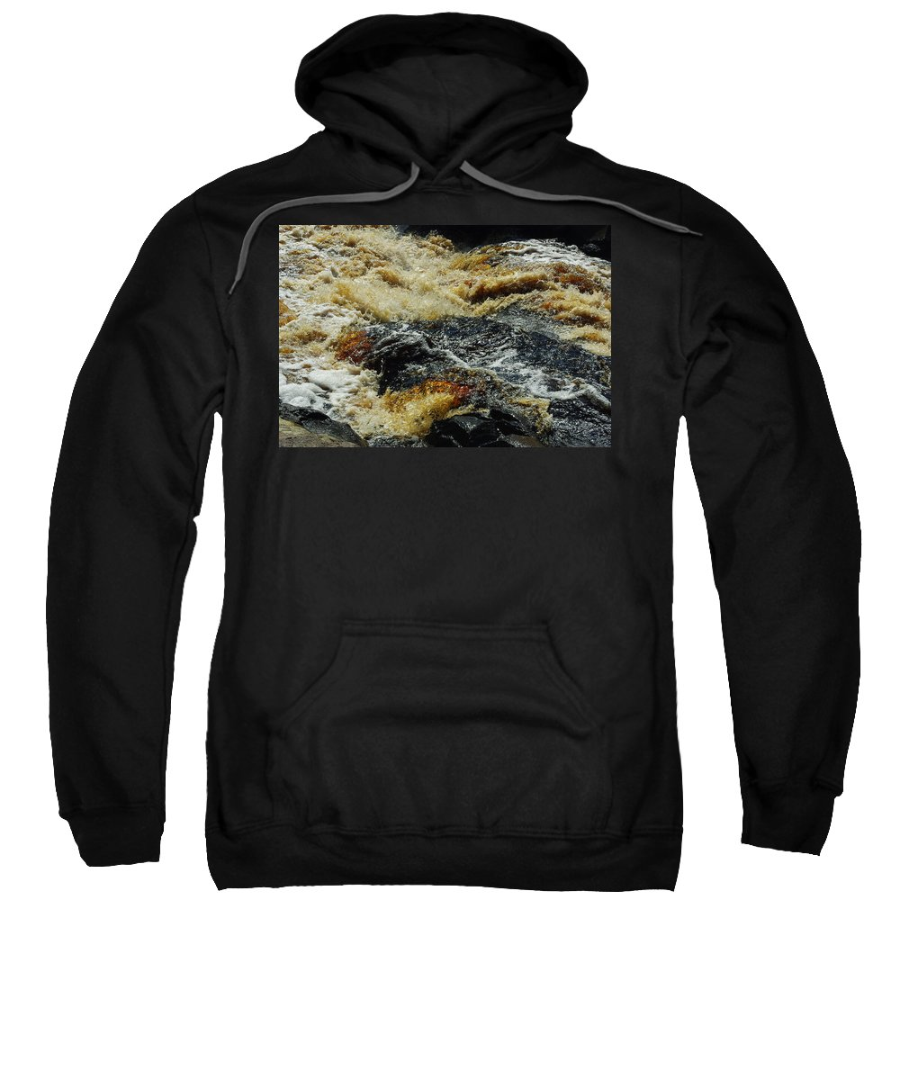 River Sweatshirt featuring the photograph River On The Rocks by Alice Markham