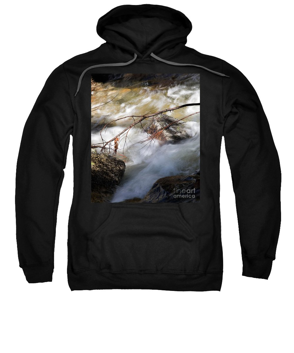 California Sweatshirt featuring the photograph River Rapids by Norman Andrus