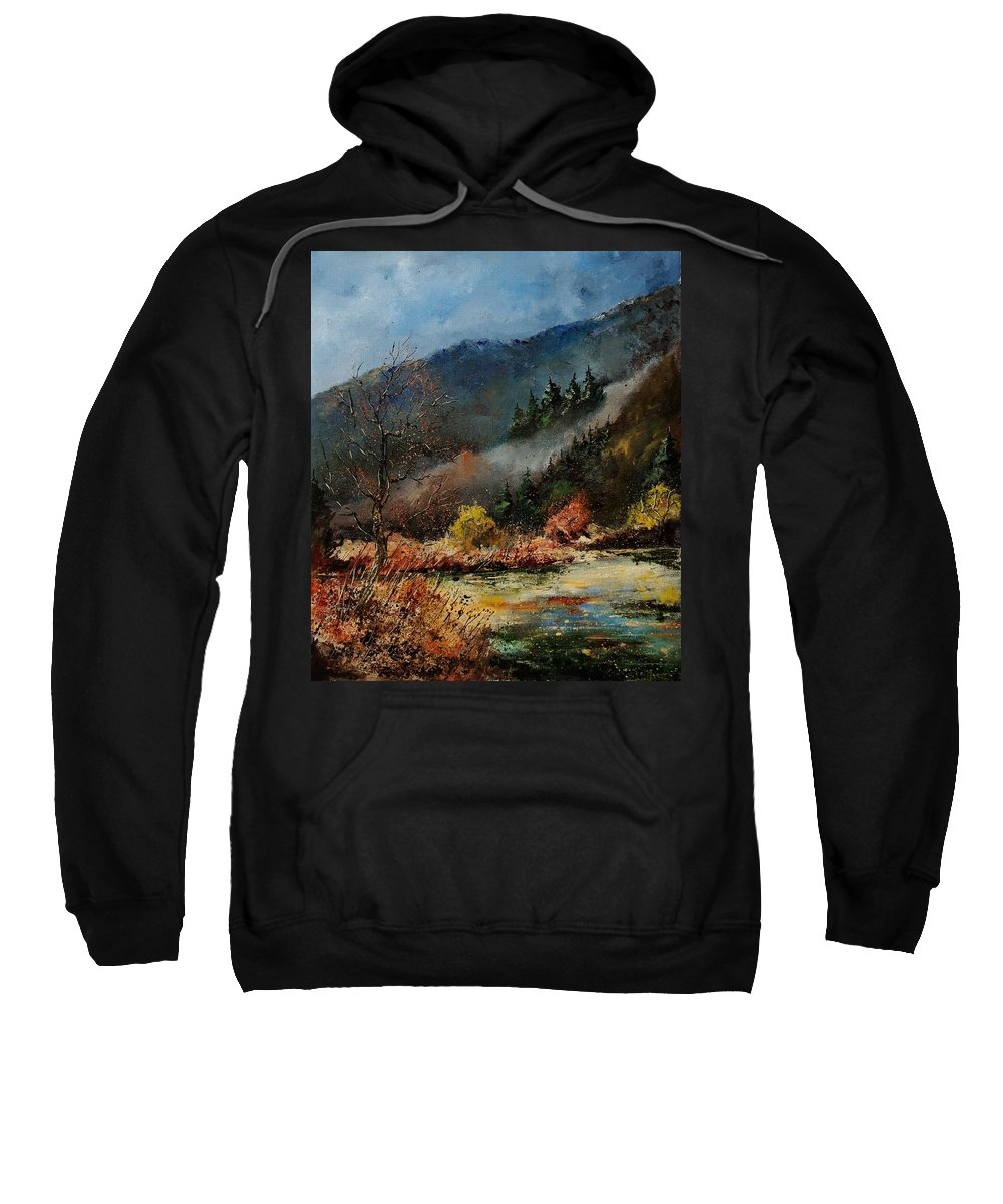 River Sweatshirt featuring the painting River Semois by Pol Ledent