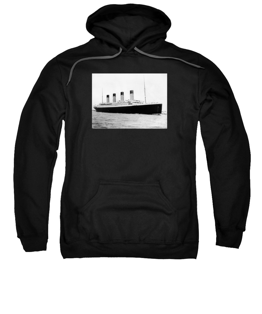 Titanic Sweatshirt featuring the photograph Rms Titanic by War Is Hell Store