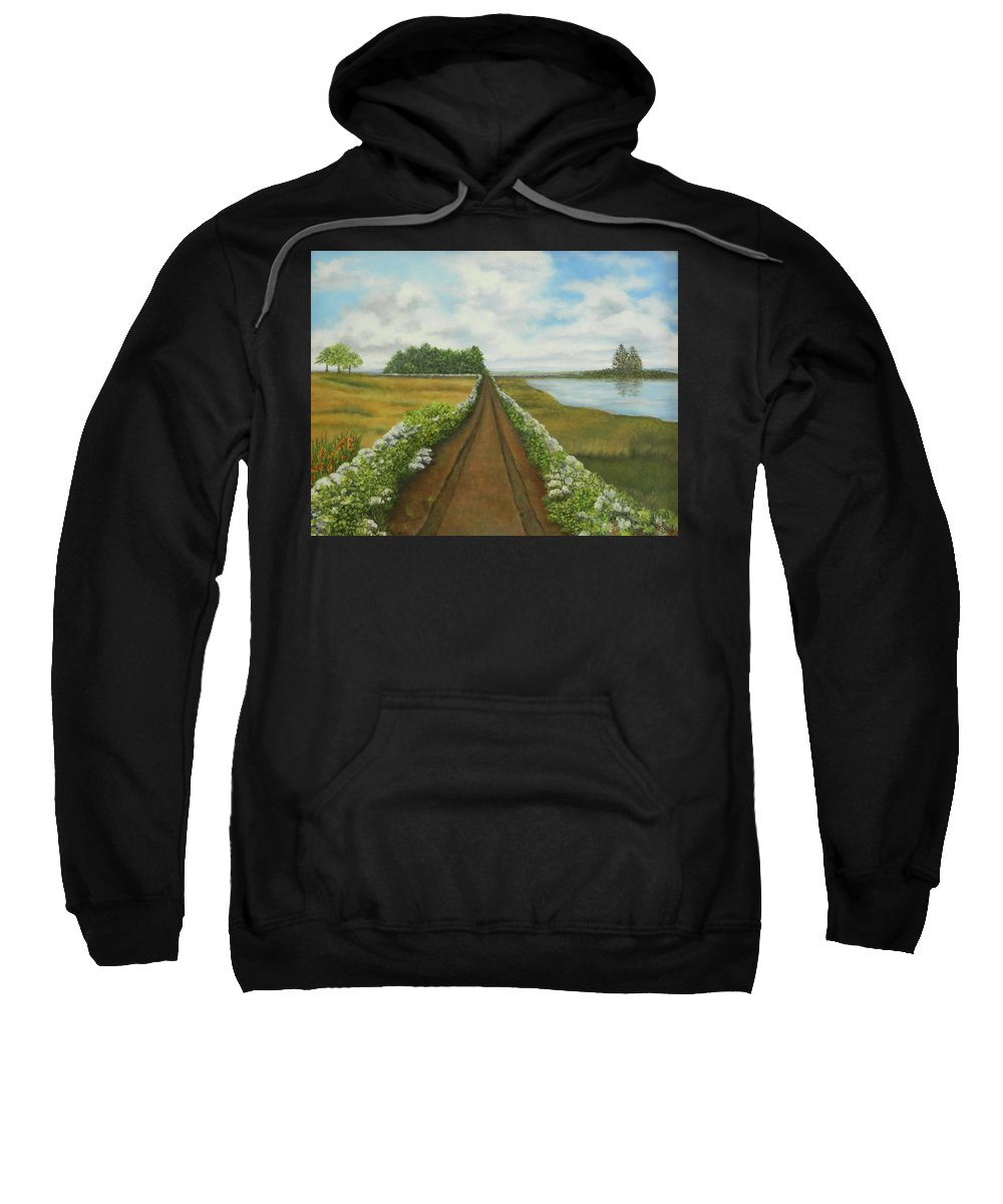 Landscape Sweatshirt featuring the painting Road Less Traveled by Marian Fox