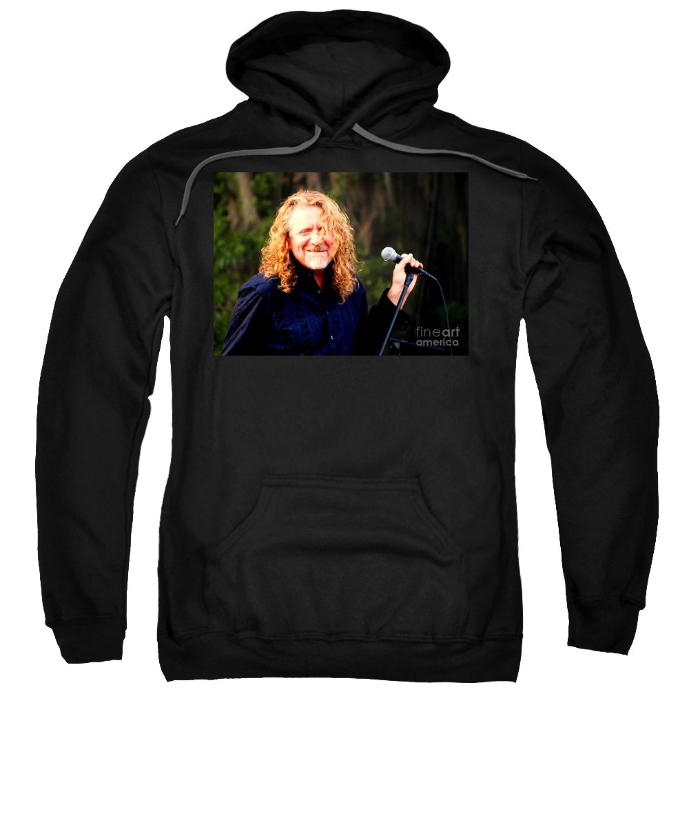 Music Sweatshirt featuring the photograph Robert Plant by Angela Murray