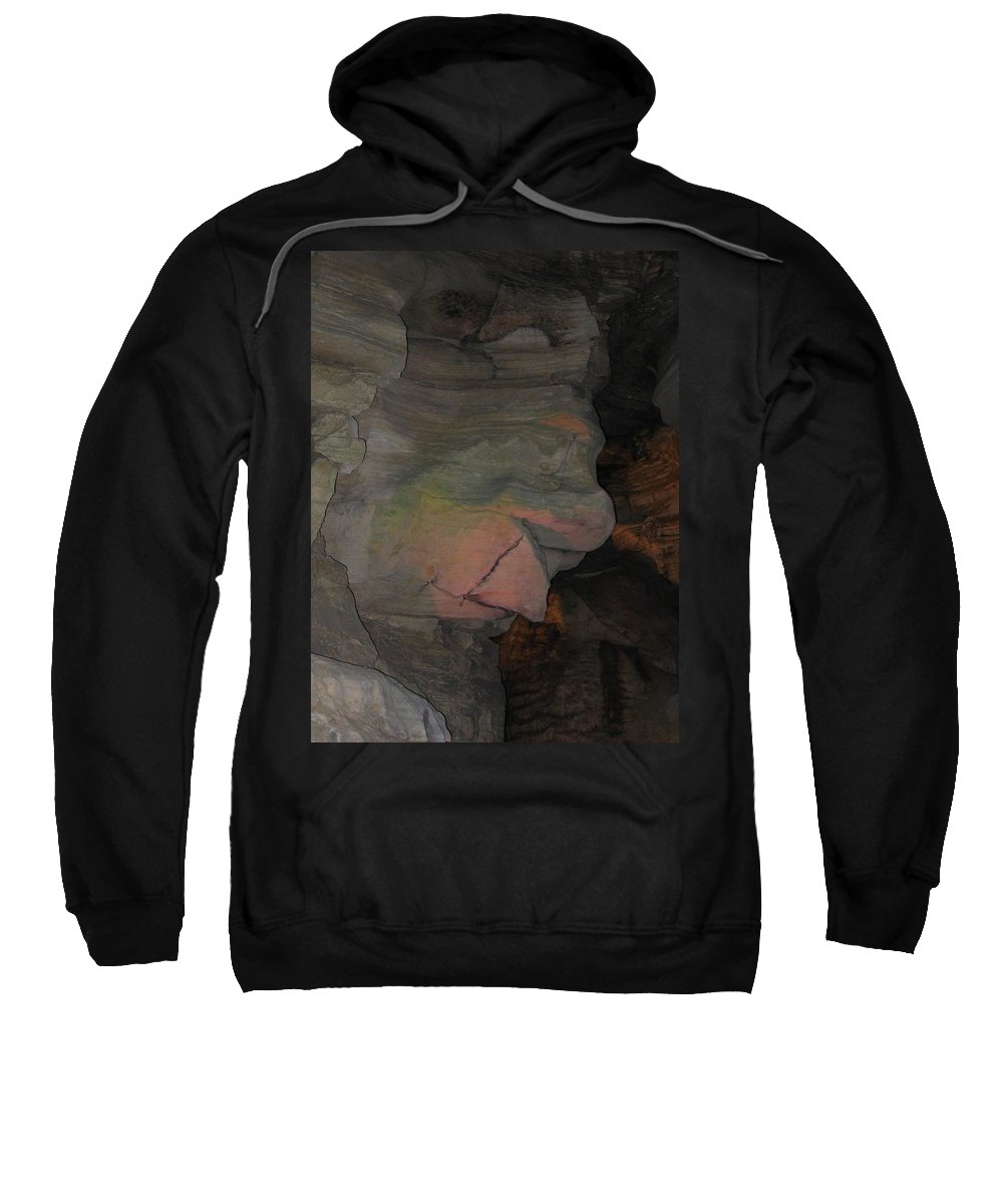 Rock Sweatshirt featuring the photograph Rock Face by Denise Keegan Frawley