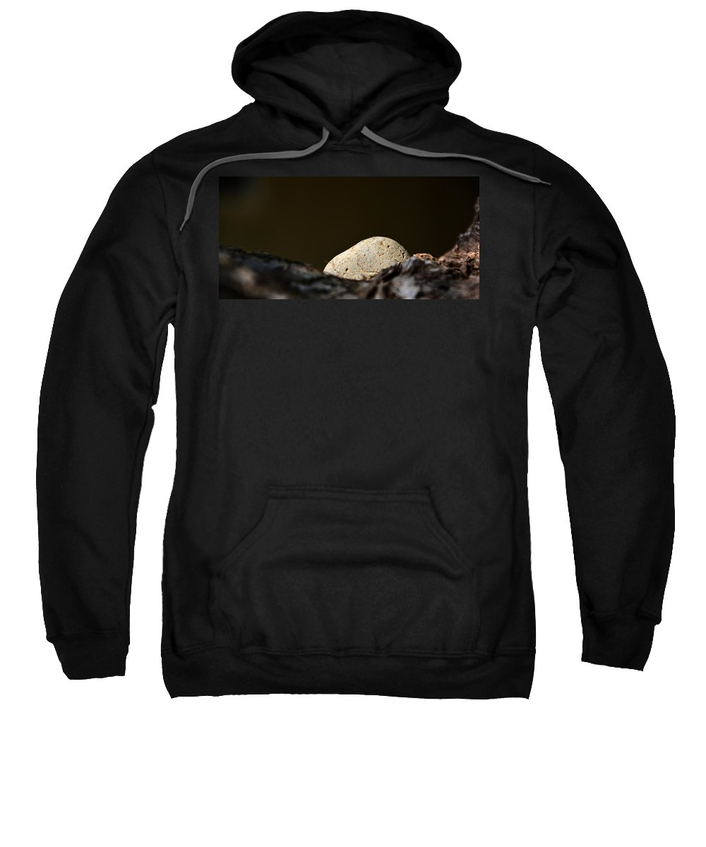 Rock Sweatshirt featuring the photograph Rock In A Cradle by Josephine Buschman