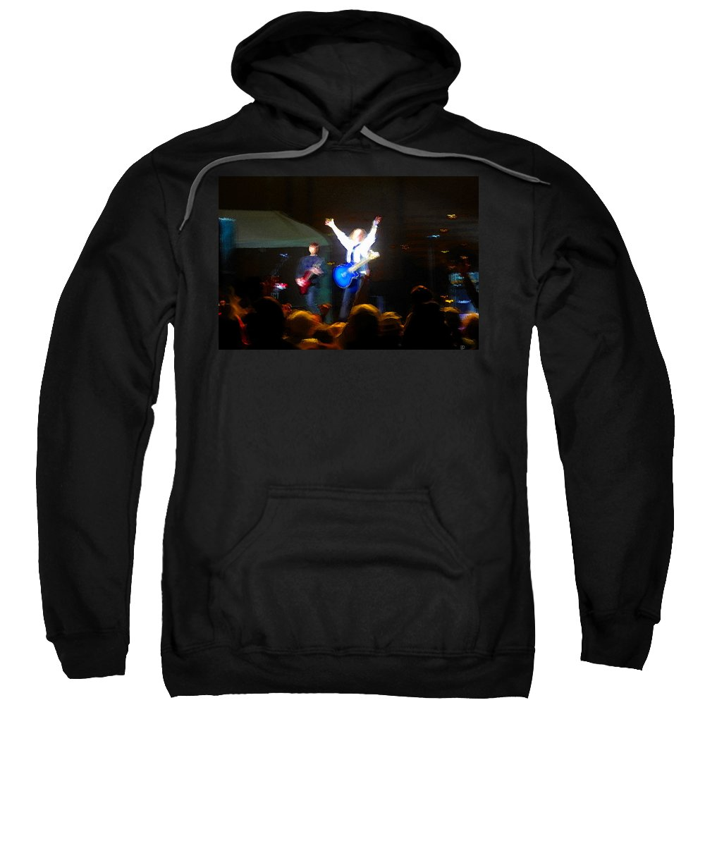 Rock Star Sweatshirt featuring the painting Rock Star by David Lee Thompson