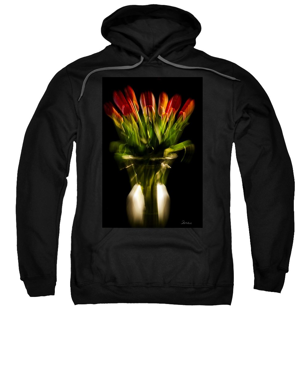 Photography Sweatshirt featuring the photograph Rocket Propelled Tulips by Frederic A Reinecke