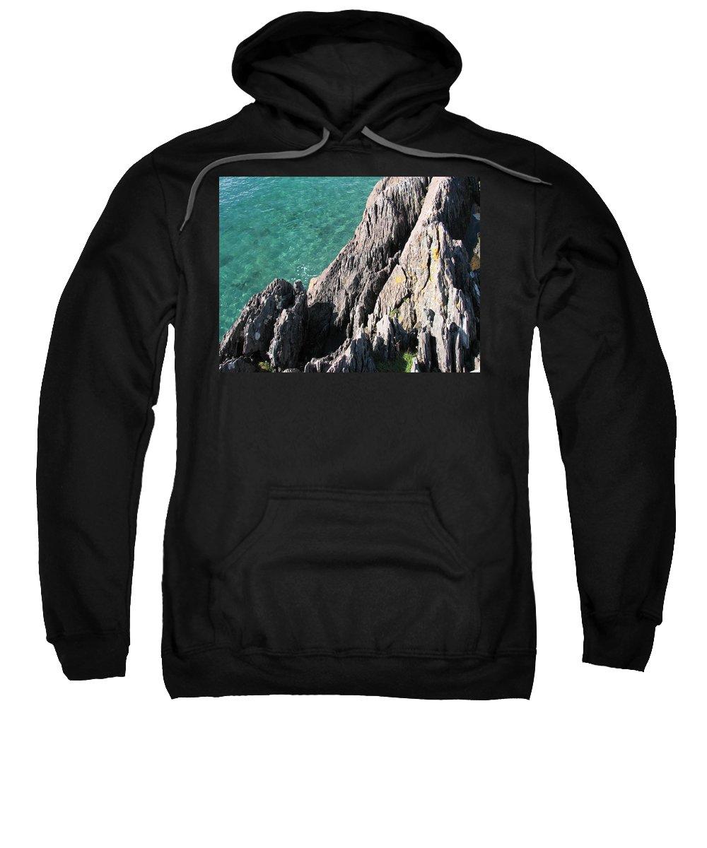 Kerry Sweatshirt featuring the photograph Rocks Of Kerry by Kelly Mezzapelle
