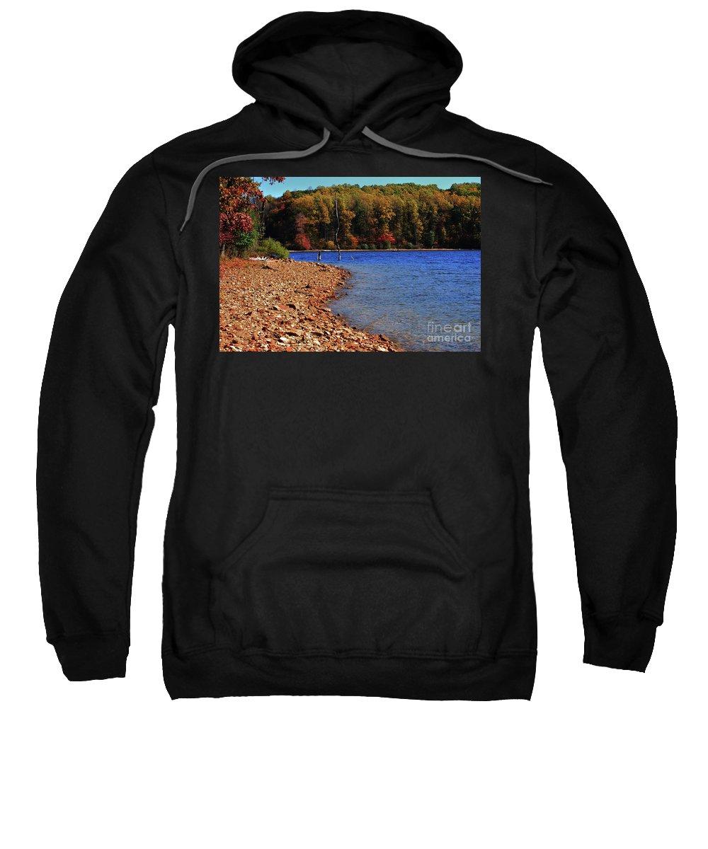 Beach Sweatshirt featuring the photograph Rocky Beach by Lori Tambakis