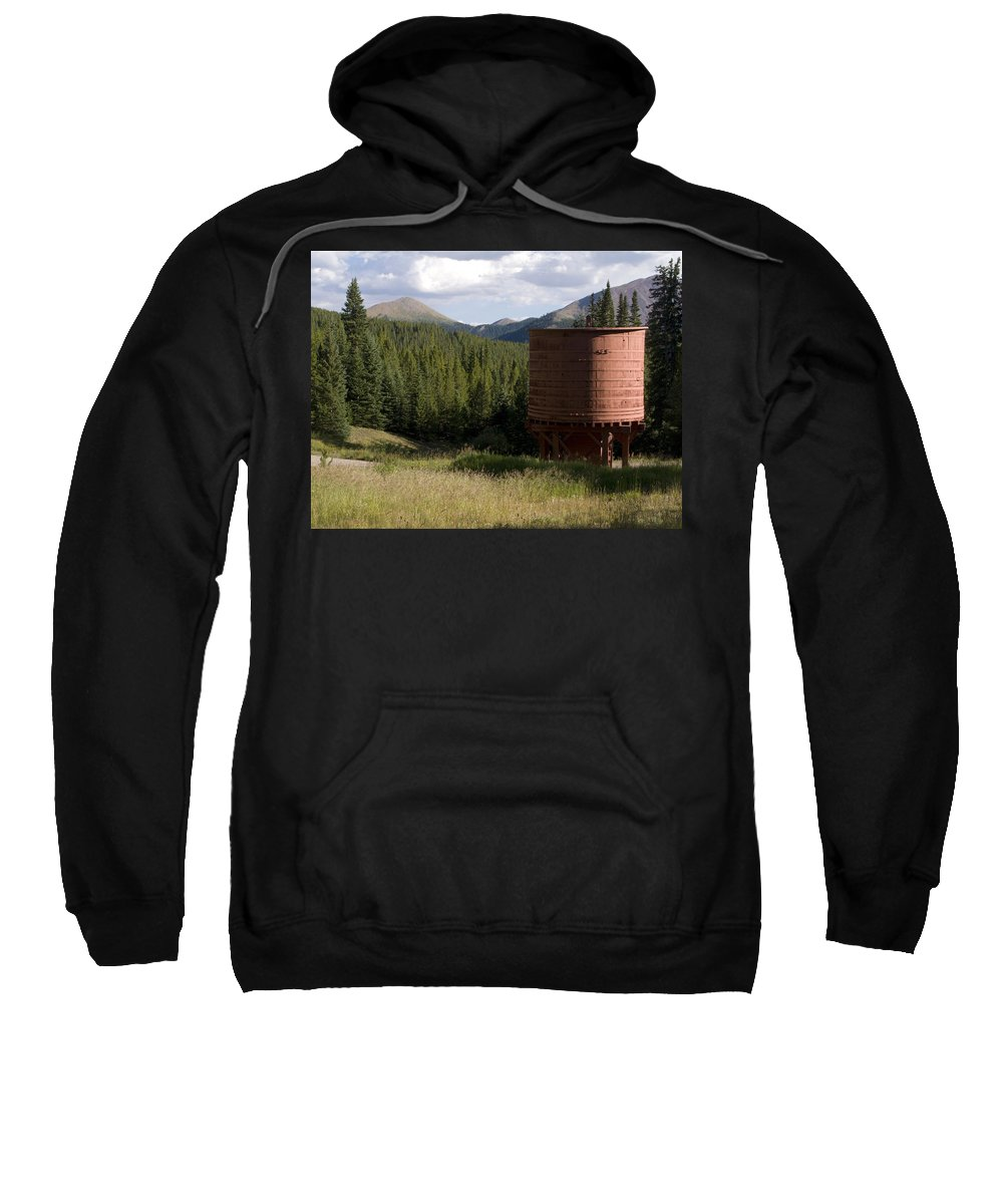 Landscape Sweatshirt featuring the photograph Rocky Mountain Water Tower by Jeffery Ball
