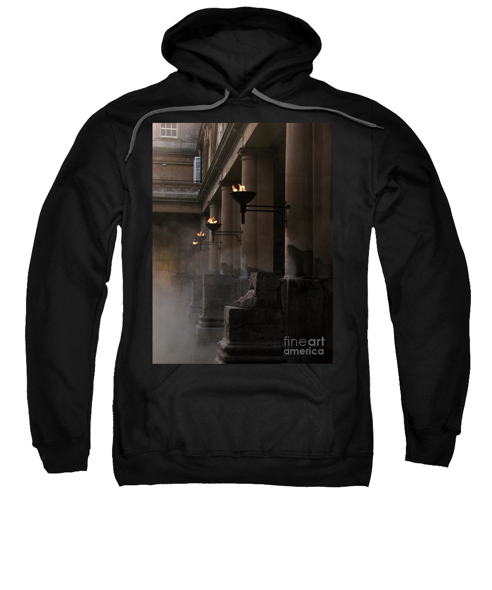 Bath Sweatshirt featuring the photograph Roman Baths by Amanda Barcon