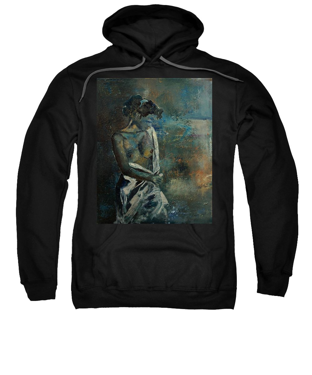 Nude Sweatshirt featuring the painting Roman Nude 45 by Pol Ledent