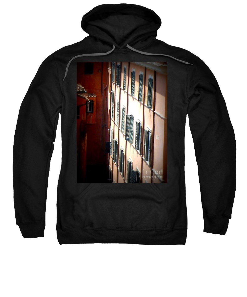Rome Sweatshirt featuring the photograph Roman Windows by Carol Groenen