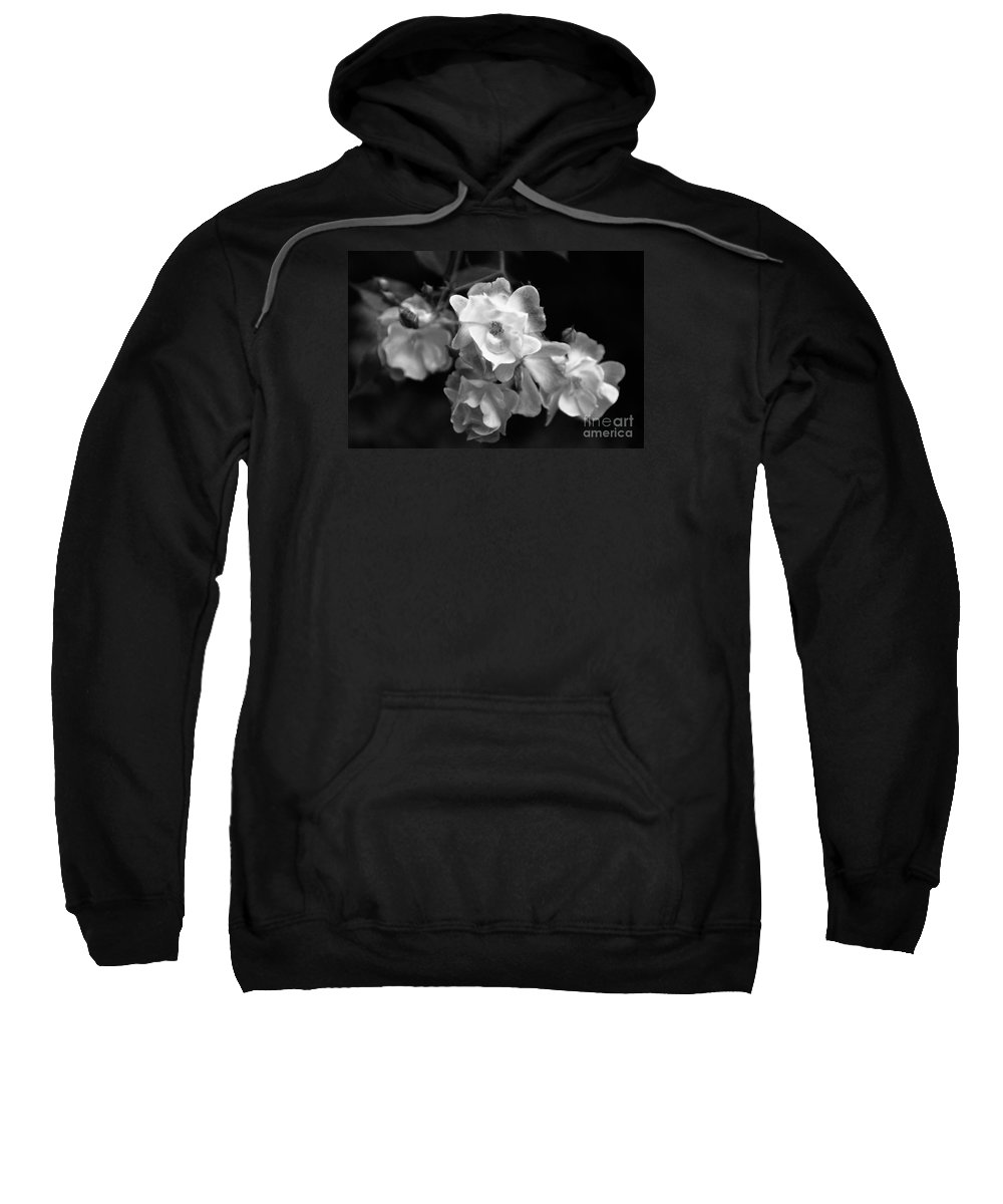 Roses Sweatshirt featuring the photograph Romance Bw by Linda Shafer