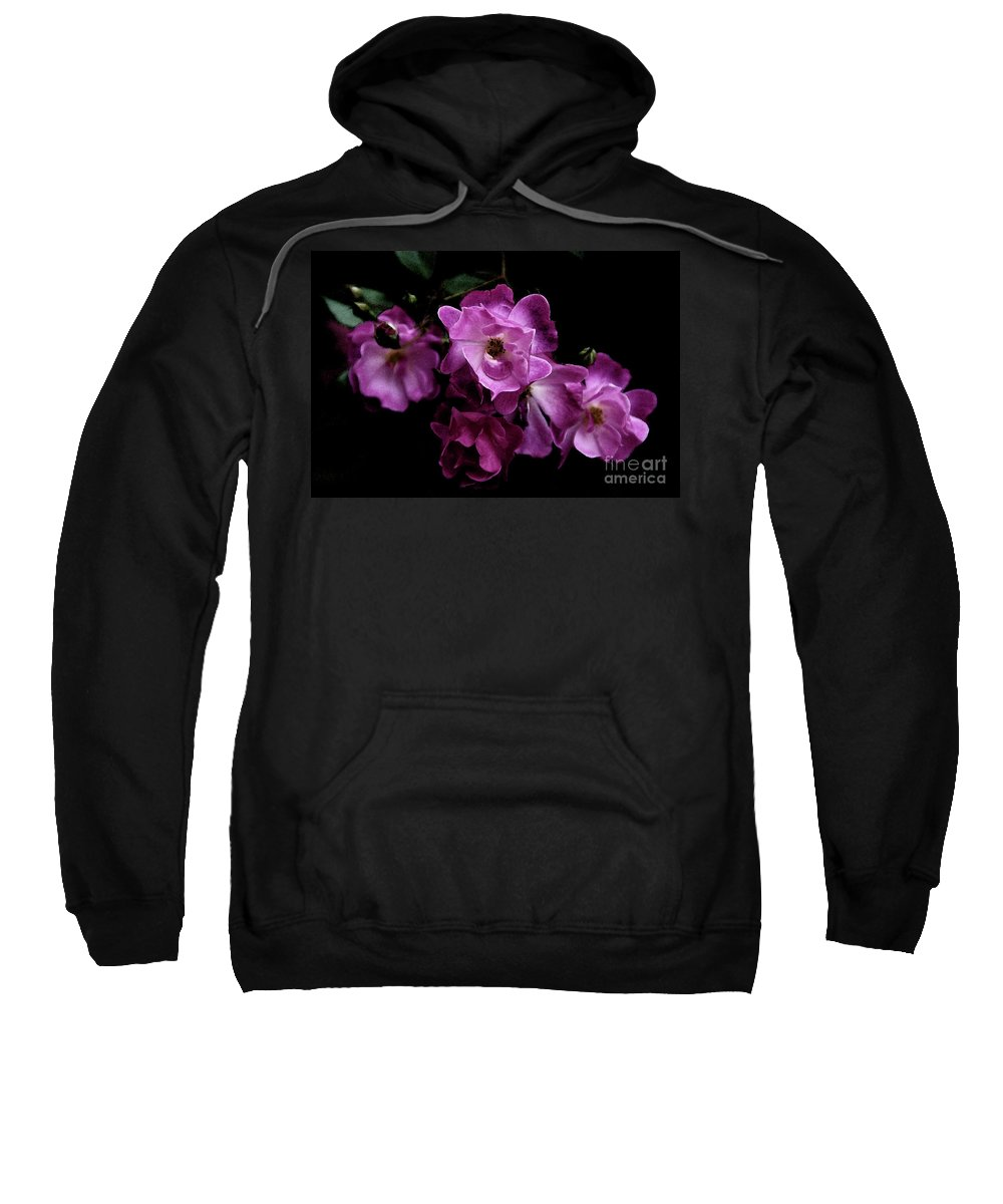 Rose Sweatshirt featuring the photograph Romance - Wc by Linda Shafer
