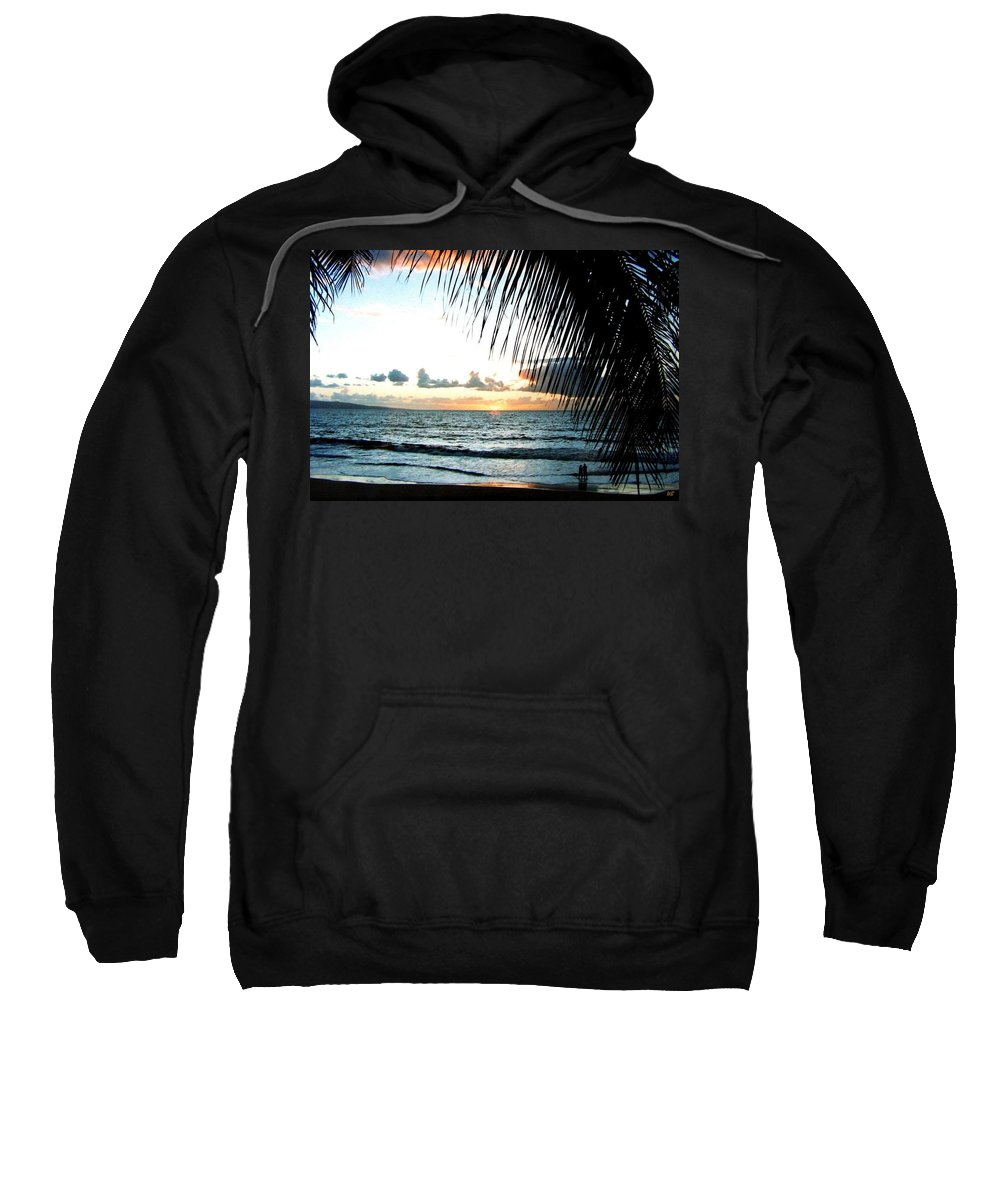 1986 Sweatshirt featuring the photograph Romantic Sunset by Will Borden