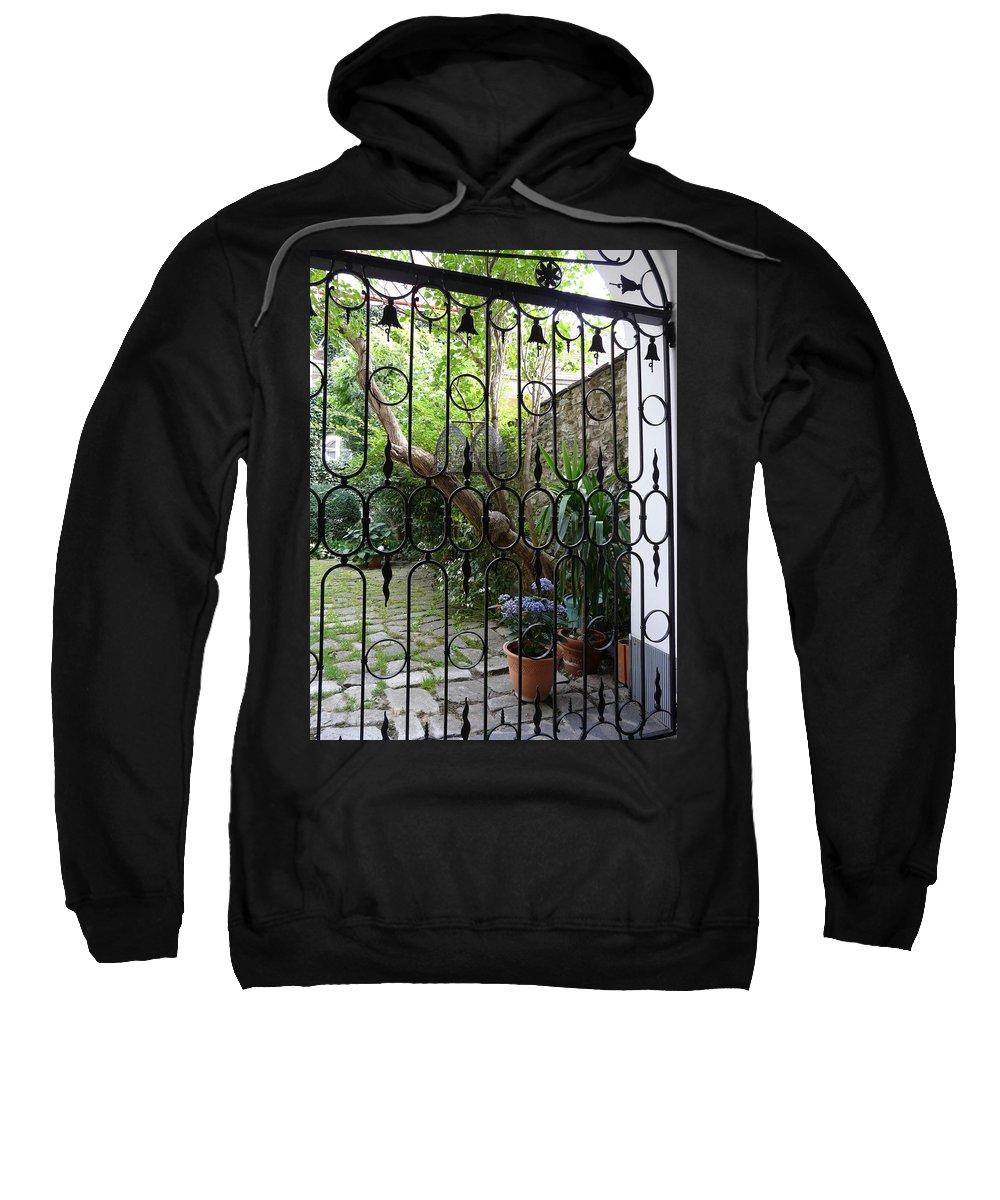 Yard Sweatshirt featuring the photograph Romantic Yard by Valerie Ornstein