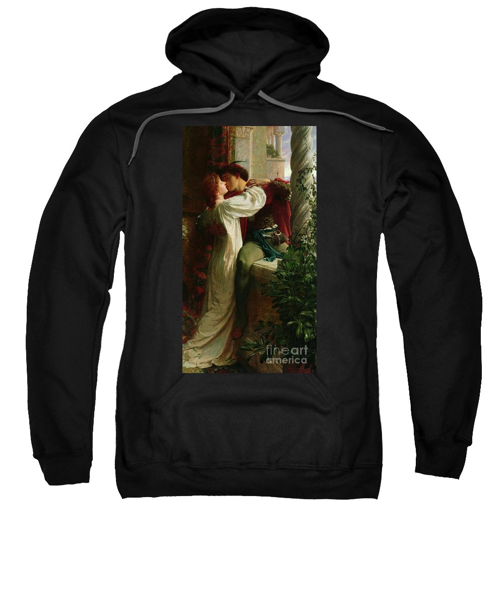 Romeo And Juliet Sweatshirt featuring the painting Romeo And Juliet by Sir Frank Dicksee