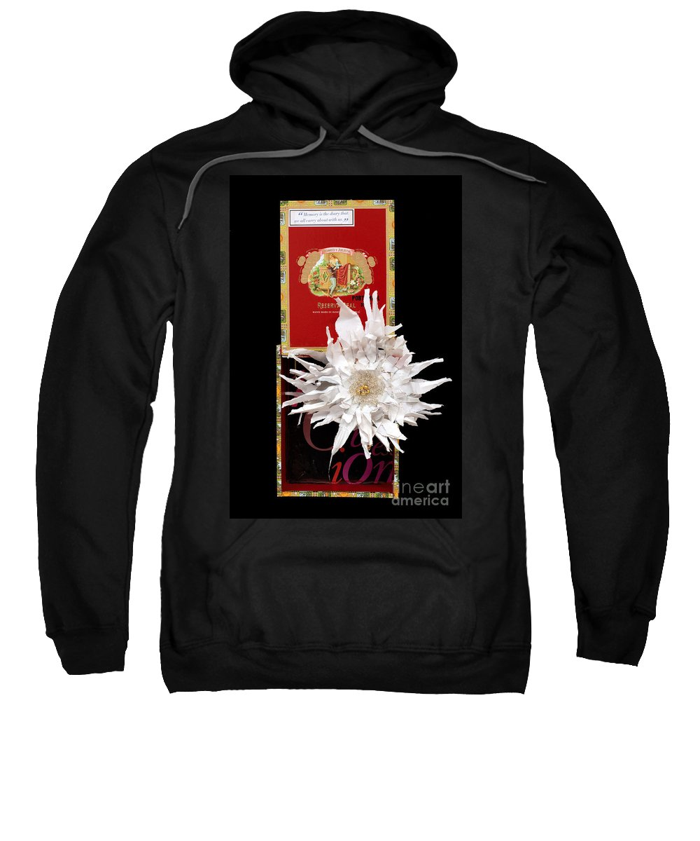 Cigar Box Sweatshirt featuring the mixed media Romeo And Julietta by Jaime Becker