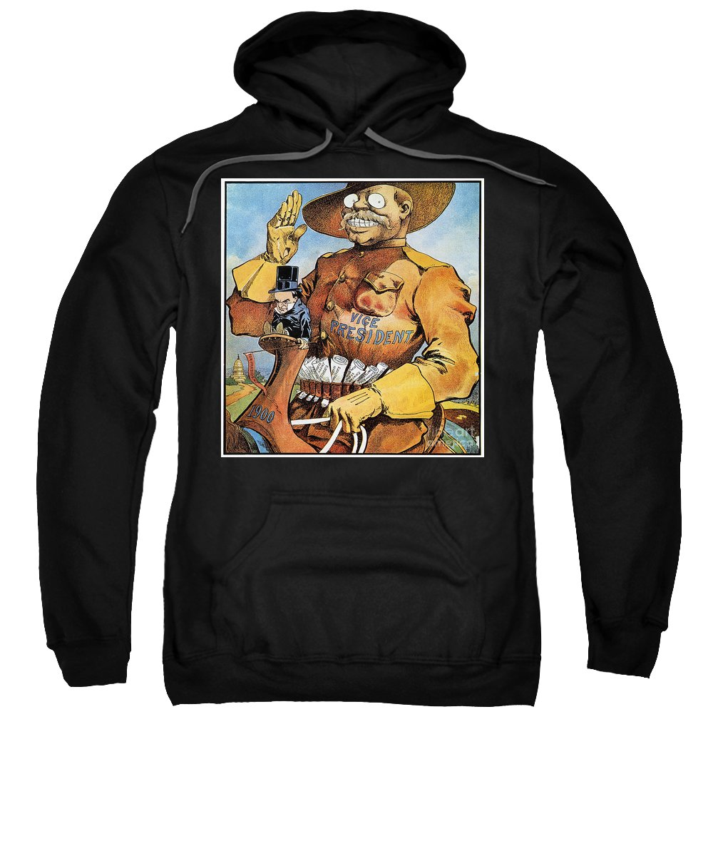 1900 Sweatshirt featuring the photograph Roosevelt/mckinley Cartoon by Granger