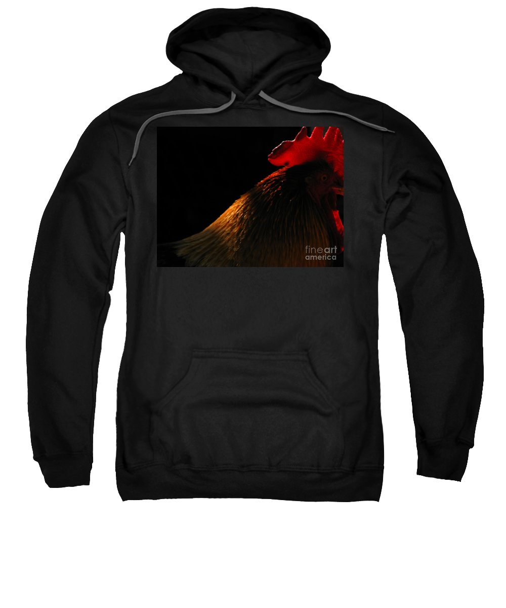 Rooster Sweatshirt featuring the photograph Rooster by Amanda Barcon
