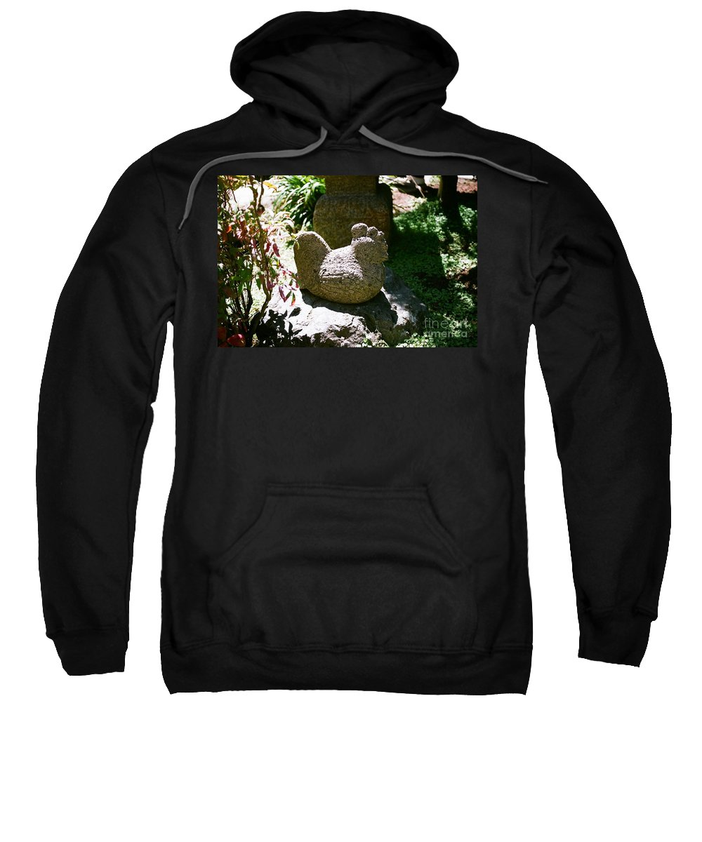 Stone Sweatshirt featuring the photograph Rooster by Dean Triolo