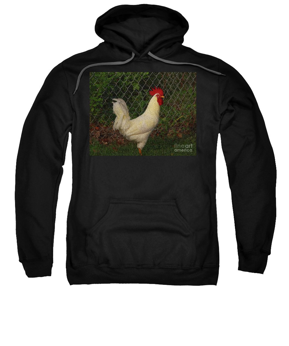 Rooster Sweatshirt featuring the photograph Rooster by Douglas Stucky