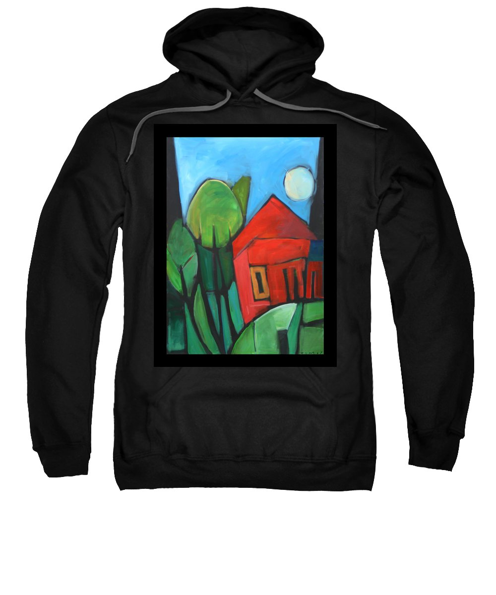 Trees Sweatshirt featuring the painting Root Cellar by Tim Nyberg