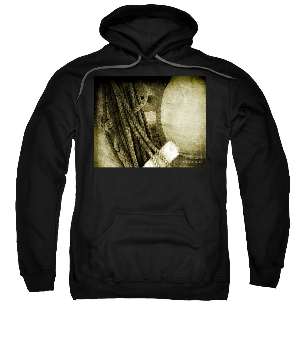 Ropes Sweatshirt featuring the photograph Ropes by Susanne Van Hulst