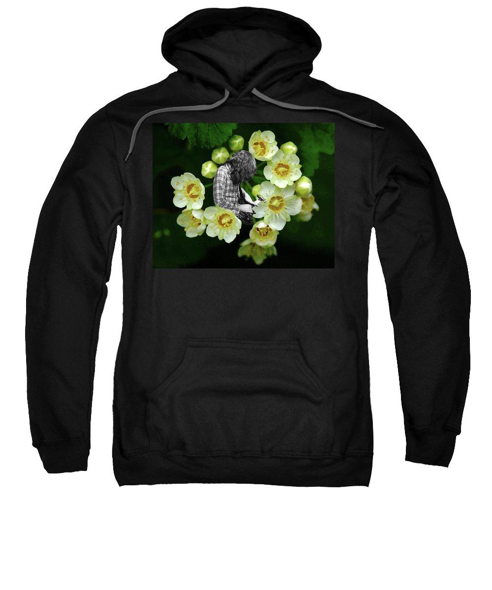 Rock Musicians Sweatshirt featuring the photograph Rock In The Garden by Ben Upham