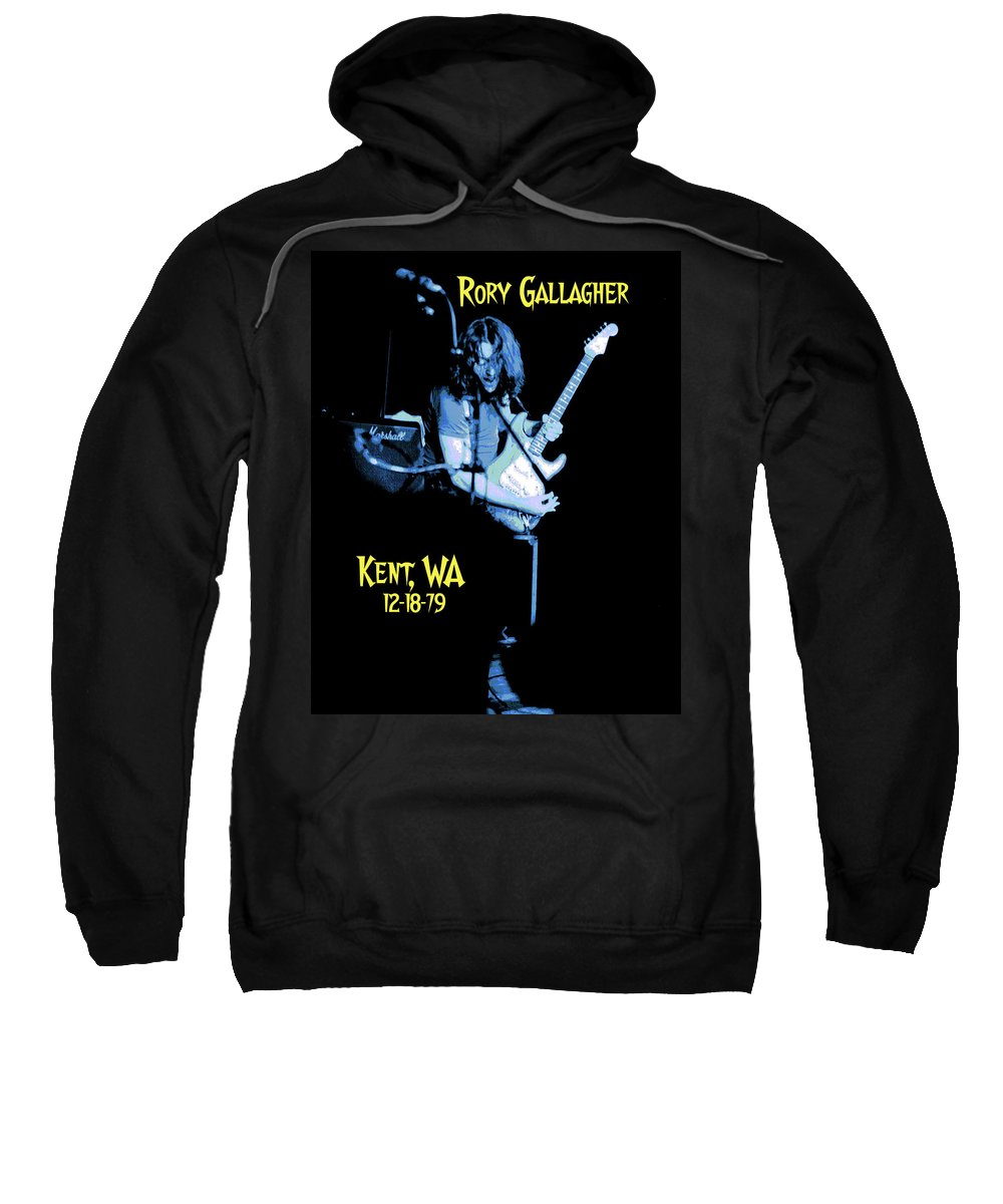 Rory Gallagher Sweatshirt featuring the photograph Rory Kent Blues by Ben Upham
