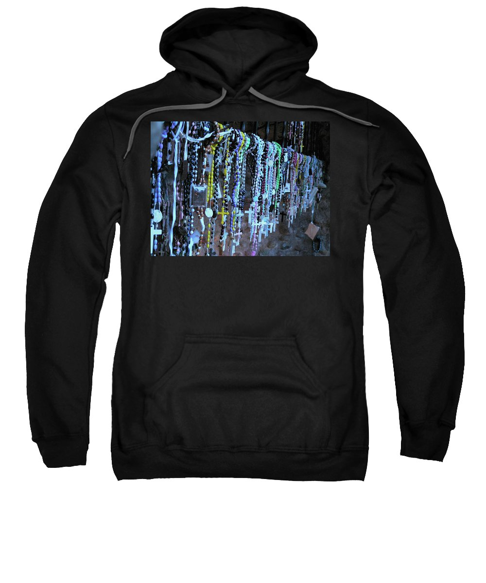 Rosary Sweatshirt featuring the photograph Rosary by Angela Wright