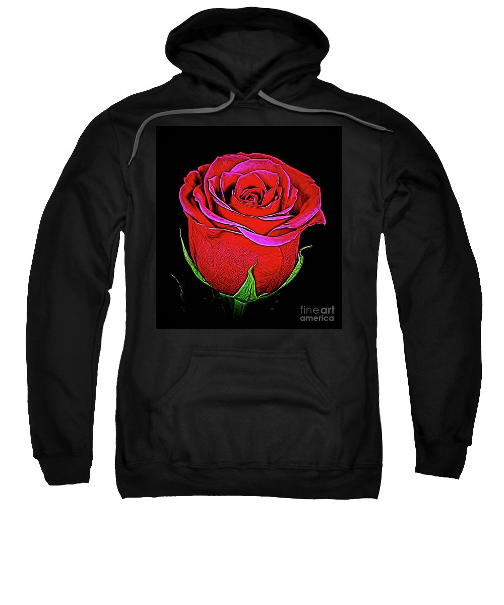 Rose 18-9 Sweatshirt featuring the photograph Rose 18-9 by Ray Shrewsberry