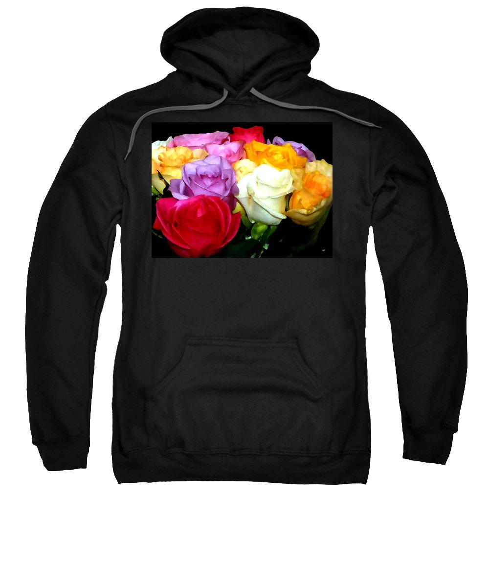 Roses Sweatshirt featuring the digital art Rose Bouquet Painting by Will Borden